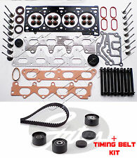FOR RENAULT CLIO 172 182 2.0 SPORT F4R HEAD GASKET VALVES BOLTS TIMING BELT KIT