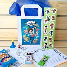 • Paw Patrol **Personalised Pre-Filled** Party Loot Bag Kids Birthday Favour