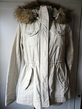 Aeropostale women's winter cargo parka jacket in light beige size Small used