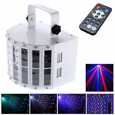 24W 6 Channel RGBW DMX512 RC LED Butterfly Effect Stage Light Laser Sound Active