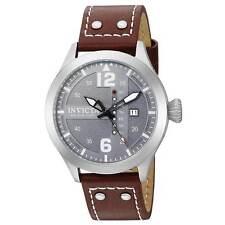 Invicta 22182 Men's I-Force Quartz Brown Band Grey Dial Watch