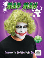 MAD MAN CURLY WIG #GREEN WAVY WIG HALLOWEEN PARTY FANCY DRESS ACCESSORY