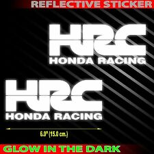 "6.0""X 2p. HRC honda racing team safety glow decal sticker die-cut out motor bike"