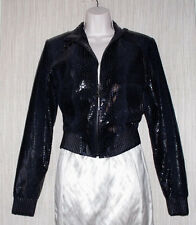 ROCAWEAR AUTHENTIC BELLA ROC STRUCTURED LEATHER CROPPED WOMEN JACKET SIZE: M