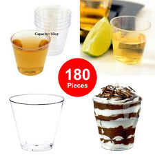180 Party Dessert Cups Frozen Yogurt Ice Cream Sorbet BPA Free Disposable Glass
