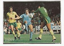 John ryan norwich city paul power man city original hand signed magazine cutting