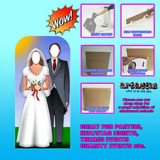 WEDDING COUPLE STAND IN LIFESIZE CARDBOARD CUTOUT STANDEE SC135 ADVANCED GRAPHIC