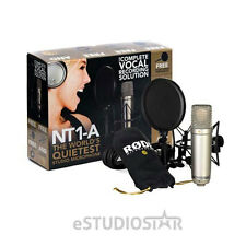 Rode NT1-A Studio Package Cardioid Condenser Microphone Podcast Record