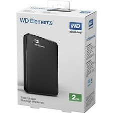 New Western Digital WD Elements Portable 2TB External Hard Drive HDD USB 3.0