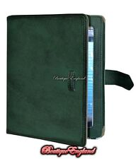 iPAD 2 3 & 4 GREEN Washed Lambskin Luxury Real Genuine Leather Cover Case Stand