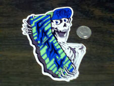 SoCal FATAL Green Blue SKULLY Sticker NoFear Roxy Car Window Decal Casual Skin I