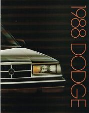 1988 Dodge Brochure : DAYTONA,DYNASTY,SHADOW,CARAVAN,LANCER,600,OMNI,ARIES,COLT,