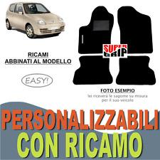 TAPPETI AUTO SU MISURA PER FIAT SEICENTO 600 MOQUETTE FONDO GOMMA + RICAMO EASY