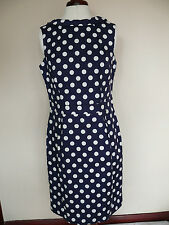 Boden Martha Dress in navy spot print RRP £99.50 Size 12R BEAUTIFUL!!