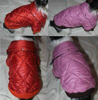 Hundejacke Jacke Mantel Parka S M L XXL Hund orange rosa Hundemantel warm Winter