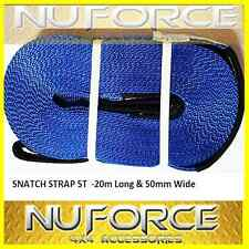 Snatch Strap 5T 20mLong 50mmWide 4WD 4x4 Recovery Kit 5000kg Winch Polyester