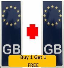 GB Euro Number Plate Stickers White / Blue  Vinyl Stickers European Decal-Car