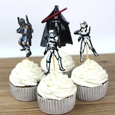 24 Pcs, Star Wars Cupcake Toppers Kids Birthday Party Supplies.