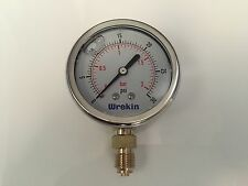 Hydraulic Pressure Gauge 63mm Bottom Entry 0-30 PSI 2 Bar Stainless GB6302/04