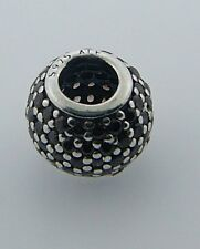 791051BCZ RETIRED PANDORA STERLING SILVER BROWN PAVE LIGHTS BEAD NEW IN BOX