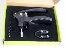 ACE Lever Ergonomic Corkscrew Gift Set With Extra Worm & Four Wheel Foil Cutter