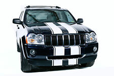 Vinyl Decal Hood Bumper Race Stripes Wrap for Jeep Grand Cherokee 05-10 White