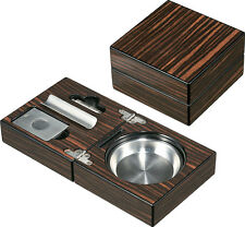 Visol Traveller Cigar Ashtray with Cigar Cutter and Punch , VASH-704, New in Box