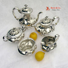 Amazing Eton 5 Piece Tea And Coffee Set Sterling Silver Wallace 1903