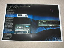 Technics Digital Audio Ad, 1983, SL-P10 CD, SV-100 DAP, 2 pages, Beautiful!