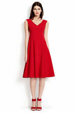Lands' End Red Tomato Italian Crepe Empire Waist Circle Work Social Dress 8 $145