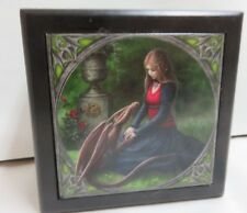 "Anne Stokes Fantasy Art Tile Wooden Box ""Secret Garden"""