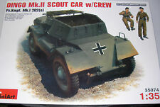 MiniArt 35074 - Dingo MK.II Scout Car With Crew Pz.Kmpf. MK.I 202(e)   1:35 Kit
