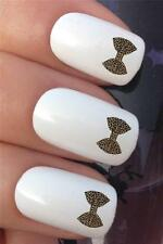 WATER NAIL TRANSFERS ANIMAL PRINT LEOPARD BOW TIE TATTOO DECALS STICKERS *607