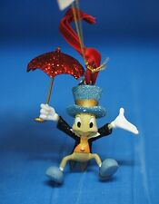 Pinocchio Jiminy Cricket Red Umbrella Resin Christmas Ornament 2008 Disney Store