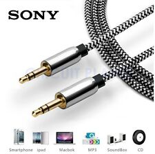 3.5mm Jack HQ White AUX Cable Audio Lead Headphone For Sony Xperia Z5 Compact
