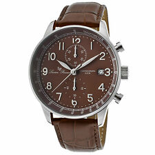 Lucien Piccard 10503-04-br Brown Vera Pelle Marrone Quadrante Men's QUARTZ WATCH
