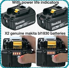 Makita BL1830 genuine  Li-Ion Battery 18V (3.0Ah) x 2 - PACKAGE DEAL