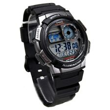 CASIO MEN'S SPORTY DIGITAL BLACK WATCH AE1000W-1BV