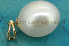 Beautiful AAA 10x13mm white  south sea pearl pendant sold 14k yellow gold