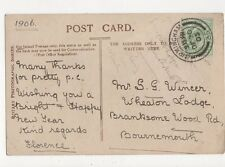 Mr S G Wincer Wheaton Lodge Branksome Wood Road Bournemouth 1905 292a