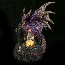 illuminated LED Crystal Castle Dragon Gothic Ornament Figure Figurine Statue