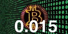 BITCOIN 0.015 (BTC) - DIRECT TO YOUR BITCOIN WALLET ADDRESS