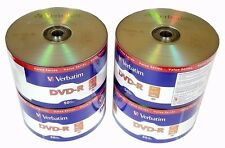 200 VERBATIM Blank DVD-R DVDR 16X 4.7GB Recordable Logo Branded Media Disc
