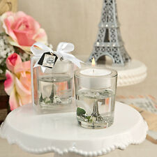 12 Eiffel Tower Design Parisian Theme Tea Light Candle Holders Wedding Favors