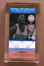 Detroit Pistons Joe Dumars Ticket Stub Imbedded in Lucite for special luncheon !