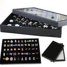 New Display Box Fashion Ring Organizer Case Holder Storage Jewelry 100 Slot