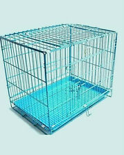 "ROYAL PET Dog Cage Light Blue Imported ""42 Inch For Dogs and Birds"