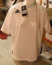 NWT Adidas Football/Soccer Athletic Climalite Shirt White Large Youth  Stripes