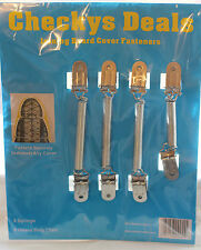 CHECKYS DEALS METAL SPRING IRONING BOARD COVER FASTENERS HEAVY DUTY FOUR CLIPS