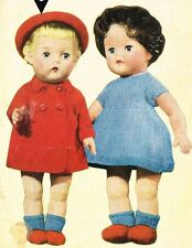 Dolls clothes knitting pattern for 10 ,12 and 14 inch doll. ( V Doll 78)